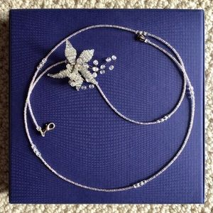 Agnes B. | beaded necklace or belt w/ wired flower